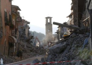 A view of Amatrice, central Italy, Friday, Aug. 26, 2016  (ANSA/AP Photo/Antonio Calanni)