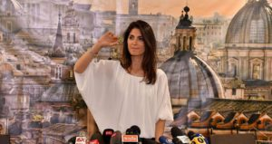 Newly elected mayor of Rome, Five Star Movement's candidate Virginia Raggi, gives a press conference after winning the mayoral election on June 19, 2016 at her campaign headquarters in Rome.  AFP PHOTO / TIZIANA FABI / AFP / TIZIANA FABI