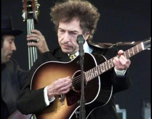 (FILE) A file picture dated 29 June 2001 shows US singer-songwriter Bob Dylan performing on the main stage at the Roskilde Festival in Roskilde, Denmark. Dylan will celebrate his 75th birthday on 24 May 2016.  EPA/Niels Meilvang