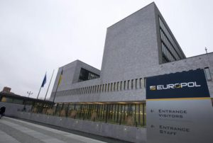 Exterior view of the Europol headquarters where participants gathered to attend the anti terror conference in The Hague, Netherlands, Monday, Jan. 11, 2016. (ANSA/AP Photo/Peter Dejong)
