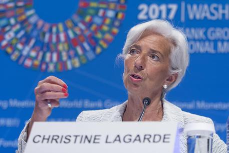 Un primo piano di Christine Lagarde.