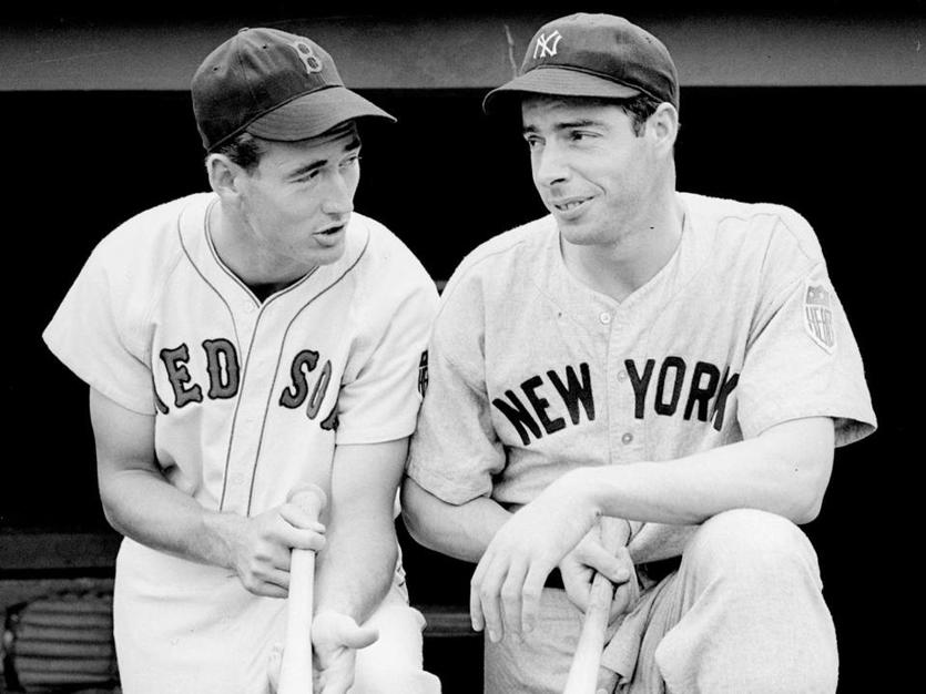 Joe Di Maggio e Williams dei Red Sox