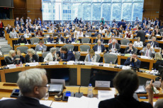 Il Parlamento Europeo in seduta per votare sul Copyright in the Digital Single Market.