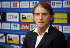 Il ct Roberto Mancini in conferenza stampa.
