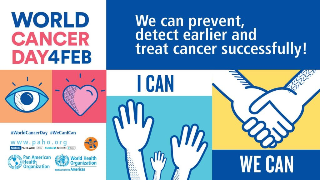 Il manifesto del World Cancer Day.