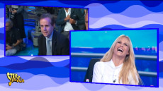 Michelle Hunziker in conferenza stampa intervistata da Emilio Buttaro