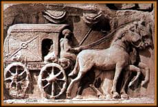 Carro postale dell'antica Roma.