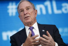 Il miliardario ed ex sincado di New York Michael Bloomberg in una foto d'archivio. (ANSA-EPA/SHAWN THEW)