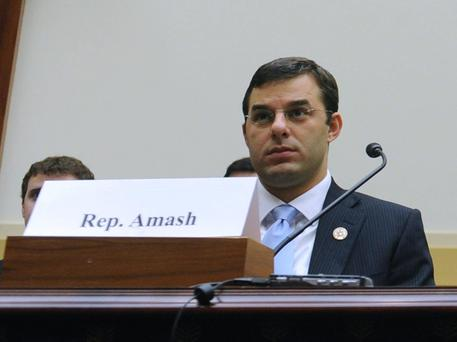 L' ex deputato repubblicano del Michigan Justin Amash,.