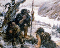 Il dipinto Snowbound, di Charles R. Knight