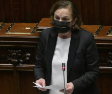 Il ministro dell'Interno, Luciana Lamorgese, durante un Question Time alla Camera.